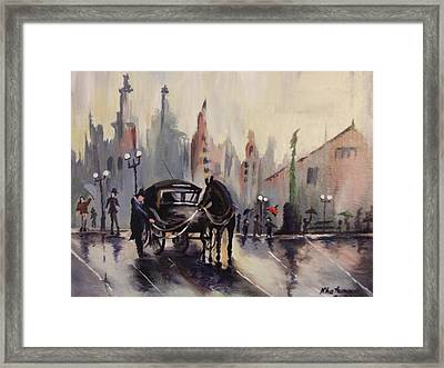 Old Vintage London Framed Print by Khatuna Buzzell