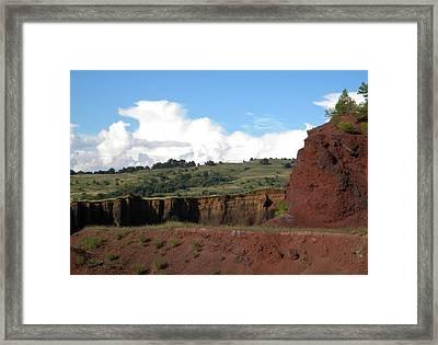 Old Volcano In Transilvania Framed Print by Manuela Constantin