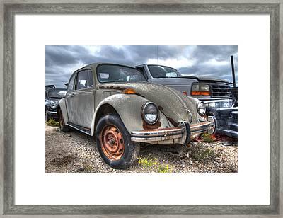 Old Vw Beetle Framed Print