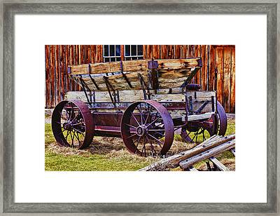 Old Wagon Bodie Ghost Town Framed Print