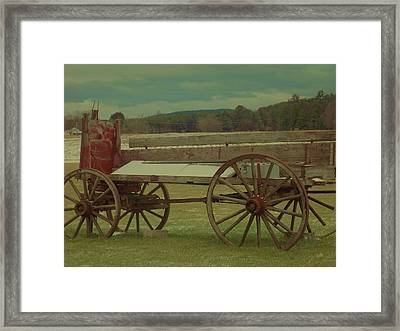 Old Wagon Fruit Stand Framed Print by Becca J