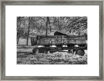 Old Wagon Framed Print by Lisa Moore