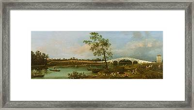 Old Walton's Bridge Framed Print by Giovanni Antonio Canaletto