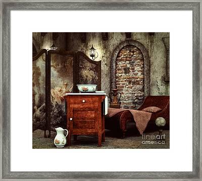 Old Washstand Framed Print by Jutta Maria Pusl