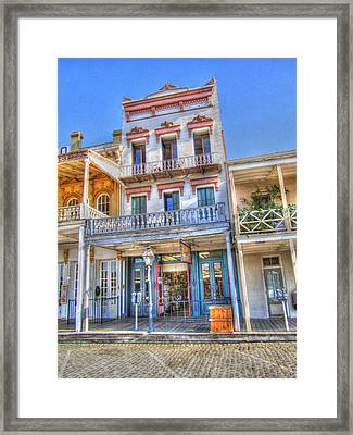 Old West Architecture Framed Print by Barry Jones