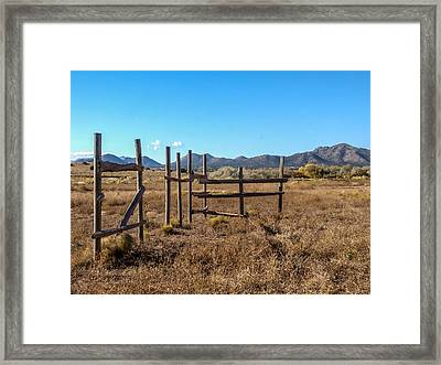 Old West Corral Framed Print by Ralph Brannan