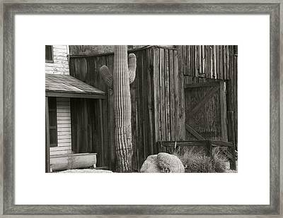 Old West Framed Print by Dietrich Sauer