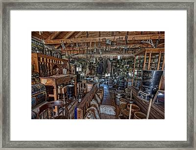 Old West General Store - Montana Framed Print by Daniel Hagerman