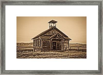 Old West School House Framed Print by Steve McKinzie
