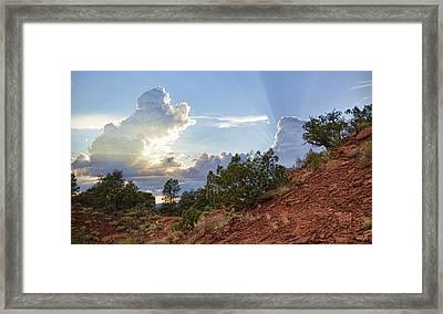Old West Sunset Framed Print