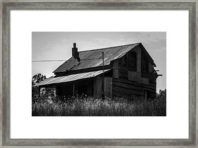 Old West Va Cabin Framed Print by Toma Caul