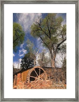 Old West Water Mill 1 Framed Print by Darcy Michaelchuk