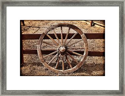 Old West Wheel Framed Print