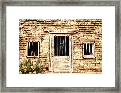 Old Western Jailhouse Framed Print