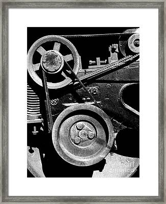 Old Western Pacific Caboose Train Wheel . 7d10626 . Black And White Framed Print by Wingsdomain Art and Photography