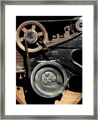 Old Western Pacific Caboose Train Wheel . 7d10626 Framed Print