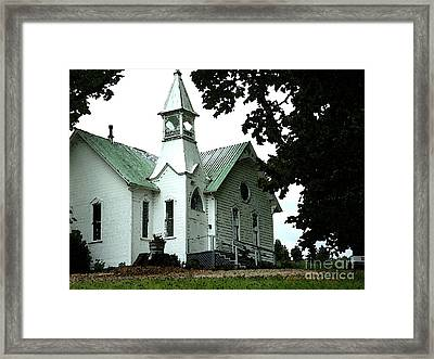 Old White Church Of Yamhill County Framed Print