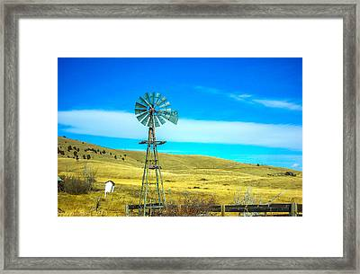 Framed Print featuring the photograph Old Windmill by Shannon Harrington