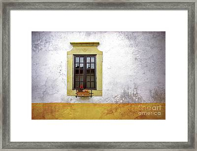 Old Window Framed Print by Carlos Caetano