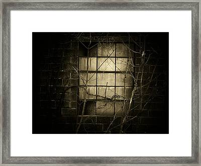 Old Window Framed Print by Michael L Kimble