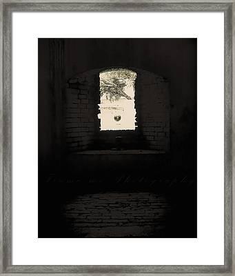 Old Window Framed Print by Vanessa Benson