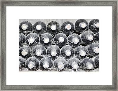 Old Wine Bottles Framed Print