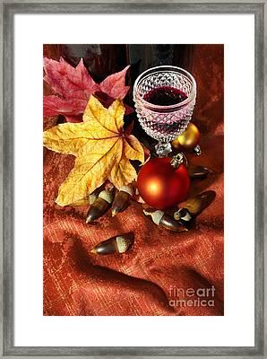 Old Wine Glass Framed Print by Carlos Caetano