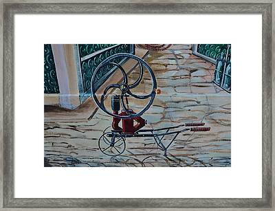 Old Wine Pump Framed Print by Dany Lison