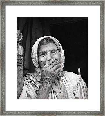 Old Woman From Maramures Romania Framed Print by Emanuel Tanjala