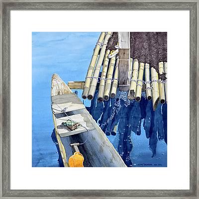 Old Wood Boat Framed Print by Andre Salvador