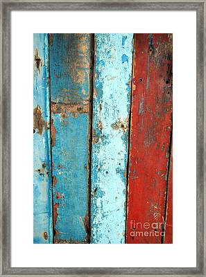 Old Wooden Background Framed Print by Antoni Halim