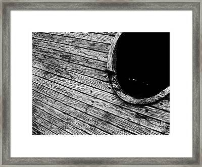 Old Wooden Boat Framed Print by Andy Prendy