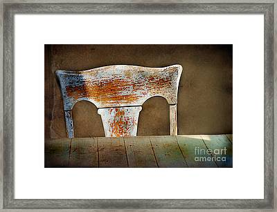 Old Wooden Chair Framed Print