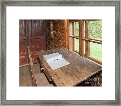 Old Wooden Desk And Chair Framed Print by Jaak Nilson