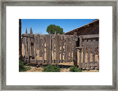 Old Wooden Fence Gate Framed Print by Thom Gourley/Flatbread Images, LLC