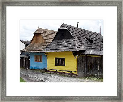 Framed Print featuring the photograph Old Wooden Homes by Les Palenik