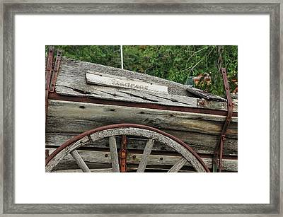 Framed Print featuring the photograph Old Wooden Wagon by Trever Miller