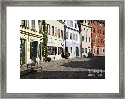 Old World Street Framed Print by David Buffington
