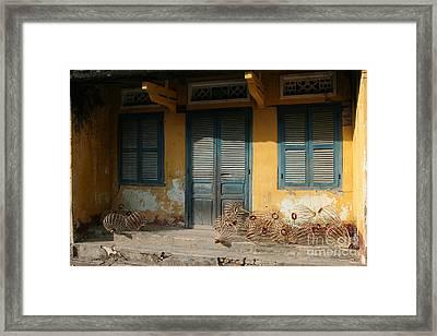 Old Yellow House In Vietnam Framed Print by Tanya Polevaya