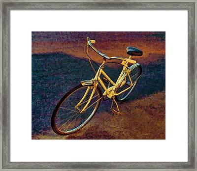 Framed Print featuring the painting Old Yellow by Steven Richardson