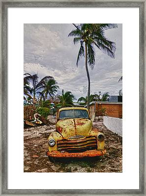 Old Yellow Truck Florida Framed Print by Garry Gay
