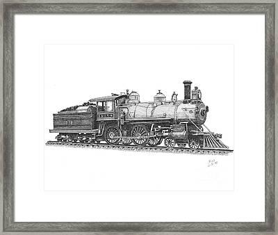 Older Steam Locomotive Framed Print by Calvert Koerber