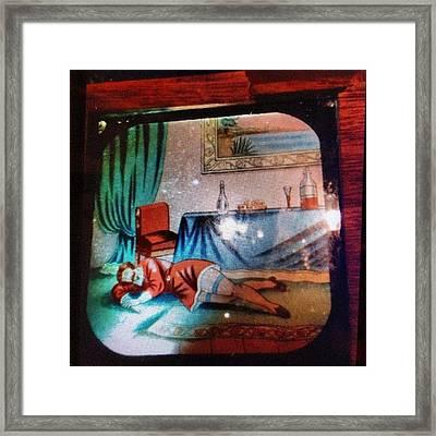 #oldmovie #slide #sleeping Or #dead Framed Print