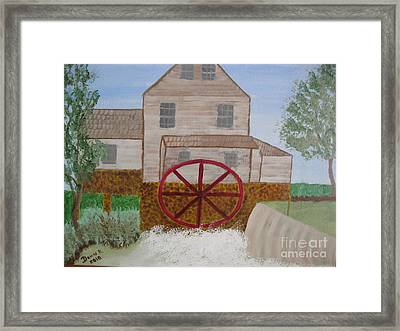 Ole' Grist Mill Framed Print by Dawn Harrold