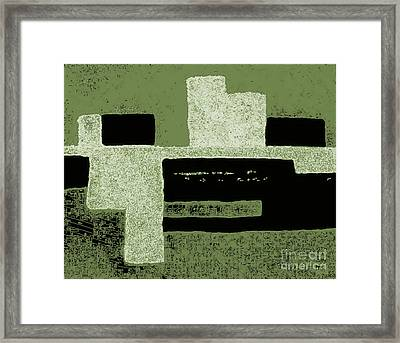 Olive Green Abstract Framed Print