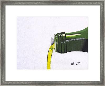 Olive Oil Framed Print by Kayleigh Semeniuk