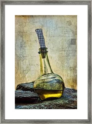 Olive Oil Framed Print by Robin-Lee Vieira
