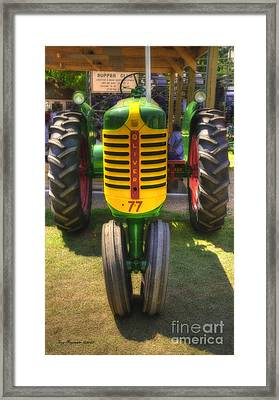 Framed Print featuring the photograph Oliver Crop Row 77 by Trey Foerster