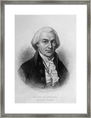 Oliver Ellsworth 1745-1807, U.s Framed Print by Everett