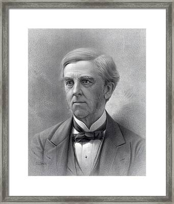 Oliver Wendell Holmes Sr.1809-94 Was An Framed Print by Everett